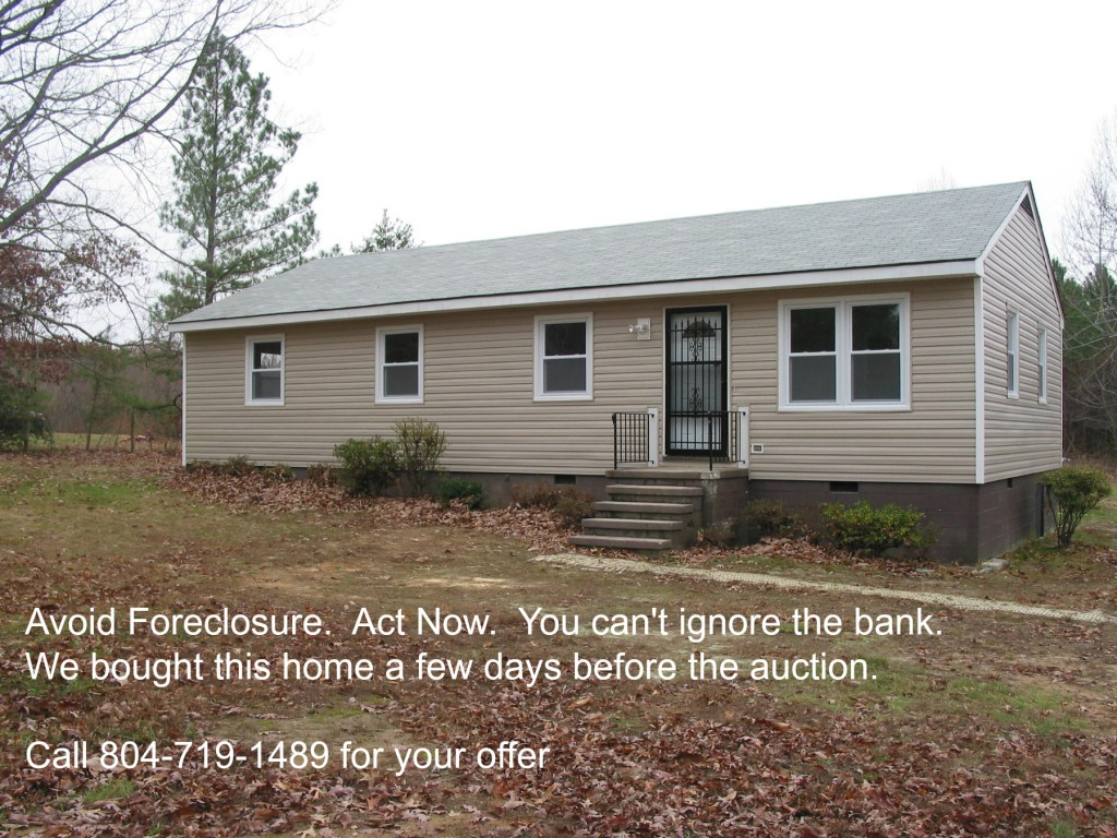 We help sellers avoid foreclosure