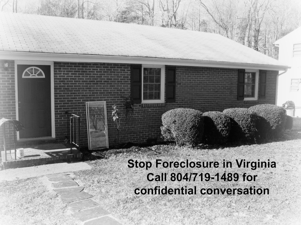 Stop Foreclosure in Virginia